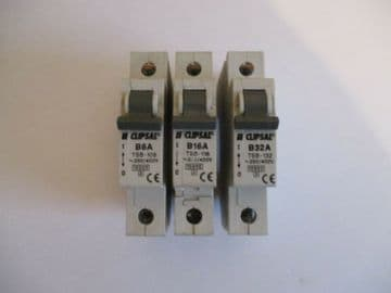 CLIPSAL TSB RANGE B6 B16 B32 B40 10KA SINGLE POLE MCB CIRCUIT BREAKERS